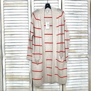 Pencil Stripe Open Cardigan